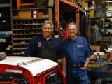 Seven's two Michaels: President Michael Abramson (right), and VP/Head Mechanic Mike Kearney (left)