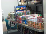 Open House supplies are stocked