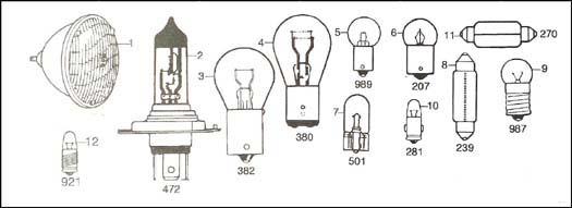 diagram  electrical  bulbs