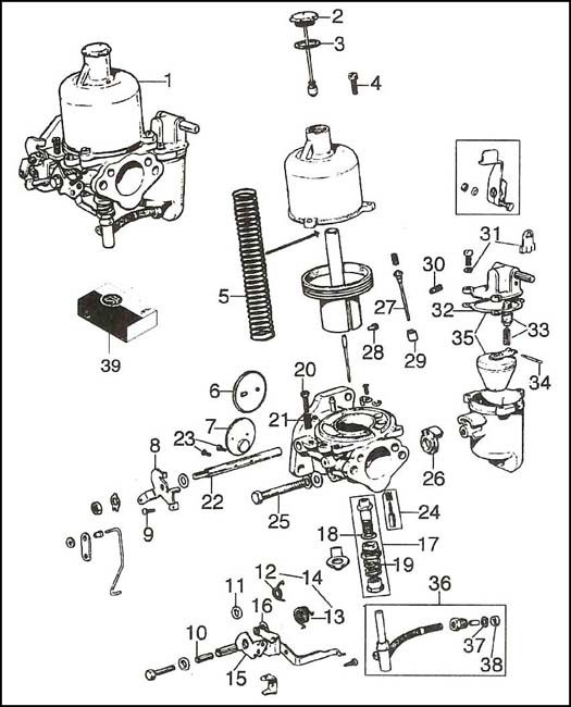 diagram  su hs4 carburetor