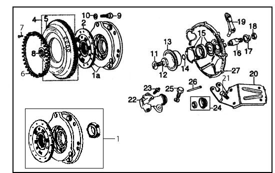 diagram  clutch  u0026 flywheel  verto